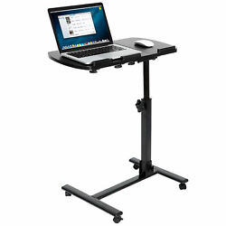 Rolling Height Angle Adjustable Laptop Sofa Desk Overbed Food Tray Table Stand $49.99