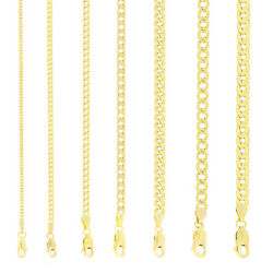 10K Yellow Gold 2mm 11mm Curb Cuban Chain Link Pendant Necklace Bracelet 7quot; 30quot; $156.97