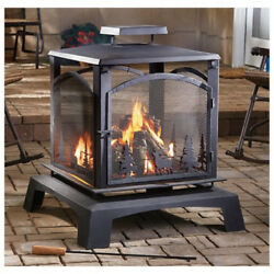 Wood Burning Fireplace Fire Pit Backyard Camping Large Patio Heater Deck Outdoor