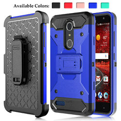 For ZTE Blade Spark Z971Grand X 4 Shockproof TPU Phone Case With Kickstand Clip