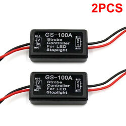 2PCS GS-100A LED Brake Stop Light Strobe Flash Module Controller Box Car Vehicle $9.60