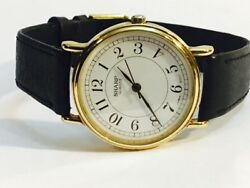 Vintage Mens Sharp Quartz Watch Gold Tone  New Old Stock From the 80s(283732)