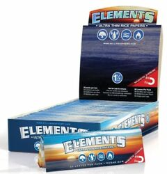 Elements 1.25 Rolling Paper Full Box 25 PACKS Ultra Thin Rice 1 1 4 Size $24.56