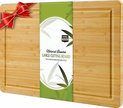 Extra Large Bamboo Cutting Board 17 x 12 Inches Utopia Kitchen $17.99