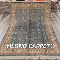 YILONG 6'x9' Hand Knotted Silk Carpet Persian All-over Family Room Area Rug L07A