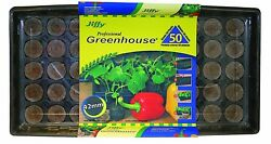 Jiffy 42mm Professional Greenhouse 50-Plant Starter Kit Herb Vegetable Seed