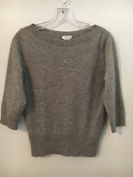 MAX MARA Made in Italy Silver Thread Cashmere Sweater $100 (Retails $400+) Large