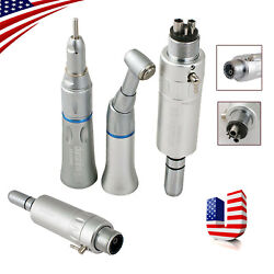 Dental Slow Low Speed Handpiece Contra Angle Straight Air Motor 2 4 Hole E Type $35.09