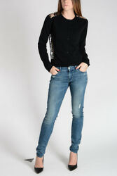 VALENTINO New Woman Black Virgin Wool Cashmere Cardigan Made in Italy