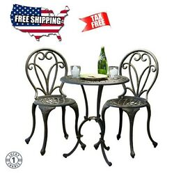 Patio Furniture For Small Spaces Bistro Table And Chairs Set 3 Piece Deck Garden