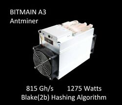 Bitmain Antminer A3 Blake2b 815GHs FREE  SHIPPING