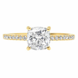 1.66ct Cushion Wedding Engagement Promise Bridal Solitaire Ring 14k Yellow Gold
