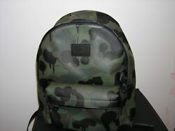NWT Coach WILD BEAST CAMPUS BACKPACK Camo Pebbled Leather Backpack