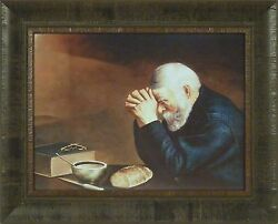 GRACE by Eric Enstrom 17x21 Old Man Praying Dinner Table FRAMED WALL ART PICTURE $35.95