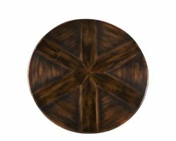 Extra Large Round Farm Table in Ebony Finish with Hidden Leaves 80