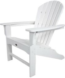 Trex Outdoor Furniture Patio Adirondack Chair Seat Cape Cod Classic White New