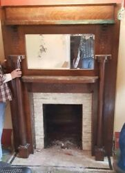 Antique Victorian Style Fireplace Mantel