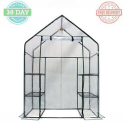 Mini Portable Greenhouse Garden Organizer Steel Frames Heavy Duty Clear Cover