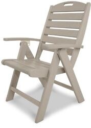 Trex Outdoor Patio Folding Chair Highback Seat Sand Castle Plastic Furniture New