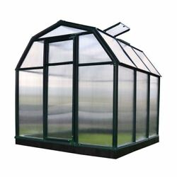 Greenhouses Twin Wall 6x6 Ft. Polycarbonate Panels Hinged Door Latch Barn Shaped