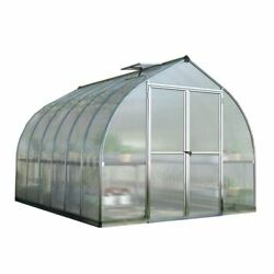 Greenhouses Silver 8 x 12 Ft. Twin-Wall Polycarbonate Panels Bell Shaped Roof