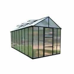 Greenhouses Premium Class 8 x 16 Ft Twin-Wall Polycarbonate Panels High Headroom