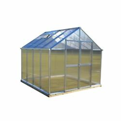 Greenhouses Natural Aluminum 8 x 8 Ft Polycarbonate Twin-Wall Rain Gutter System