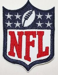 Main NFL Logo Embroidered white background Iron on Patch Free Shipping $3.50