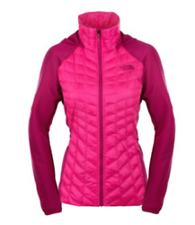 NEW The North Face Women#x27;s Thermoball Hybrid Glow Pink Fuchsia Jacket #279 $113.39