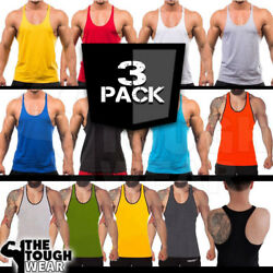3Pack Gym Stringer - Mens Tank Top for Bodybuilding and Fitness - Stringer  $17.99