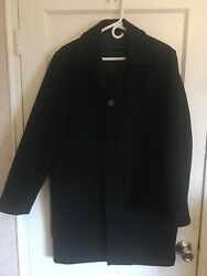 Mens wool coat size S. black in excellent condition. wasn't used much. handsome