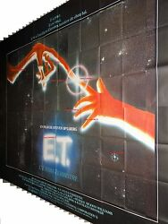 E.T. THE EXTRA-TERRESTRIAL 1982 movie poster french BILLBOARD 8 panels spielberg