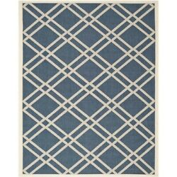Safavieh Courtyard Navy Indoor Outdoor Rug - 9' x 12'