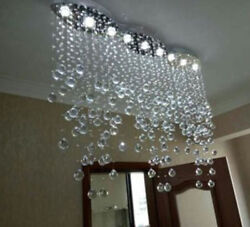 LED Modern Clear Rain Drop Ceiling Crystal Chandelier Lighting for dining Room $438.30