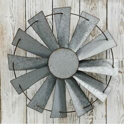 Galvanized 14quot; Windmill Rustic Country Farmhouse Decor $37.00