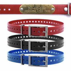 Garmin 3 4quot; Basic Hunting Collar Strap with a Free Brass Name Tag $4.50