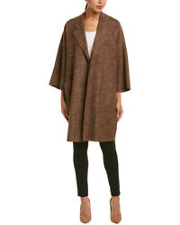 Max Mara Womens  Cashmere Coat 10 Brown