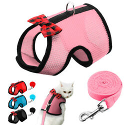 Air Mesh Cat Harness and Leash Large Small Kitten Walking Jacket Escape Proof $7.99