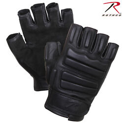 Rothco Black Tactical Fingerless Padded Gloves Leather amp; Suede Gloves 2817 $26.99
