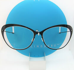 LINDBERG TITANIUM N.O.W 6511 BLUE CATEYE BUTTERFLY EYEGLASSES SPECTACLE FRAMES