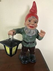Heissner Terracotta Gnome With Lantern