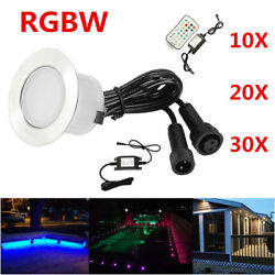 12V 45mm RGB+Warm White 2in1 Yard Stair Soffit LED Pool Decking Kitchen Lights