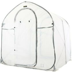 Pop-Up Greenhouse 72 in. W x 72 in. D x 78 in. H Clear with Stakes and Tie Downs