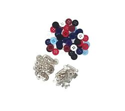 18400 PIECE KIT ASSORT SEWING SUPPLIES BUTTONS FASTENERS SNAPS HOOKS
