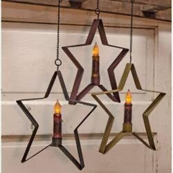 Rustic Country Primitive Whimsical Hanging Star $15.95