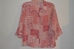 Blair Women's 3XL collared flower's roses shirt blouse Very pretty! $13.88