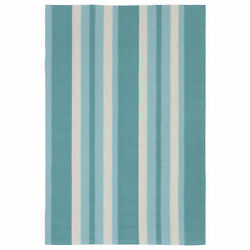 Liora Manne Portsmouth Nautical Stripe IndoorOutdoor Rug Blue 7'6
