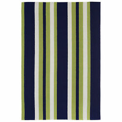 Liora Manne Portsmouth Nautical Stripe IndoorOutdoor Rug Green 7'6