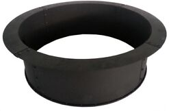 Pleasant Hearth Fire Pit Ring Insert 34 Inch Steel Large Wood Capacity Black Hot