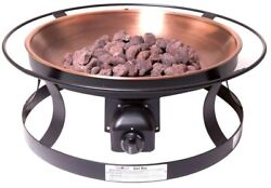 Propane Gas Fire Pit Lava Rock Matchless Ignition Patio Camp Outdoor Portable